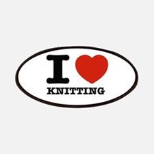 I heart Knitting Patches