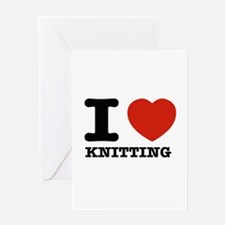 I heart Knitting Greeting Card
