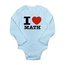 I heart Math Long Sleeve Infant Bodysuit