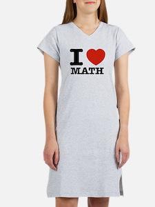 I heart Math Women's Nightshirt
