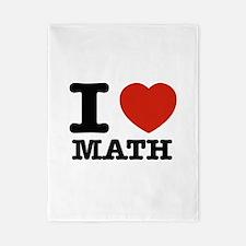 I heart Math Twin Duvet