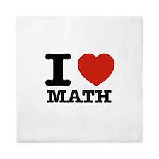 I heart Math Queen Duvet