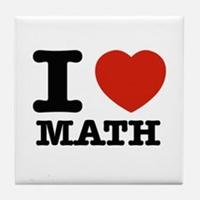 I heart Math Tile Coaster