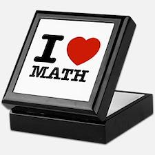I heart Math Keepsake Box