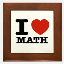 I heart Math Framed Tile