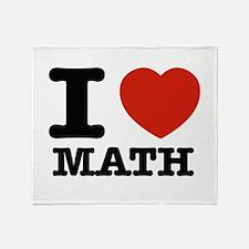 I heart Math Throw Blanket