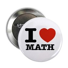 "I heart Math 2.25"" Button (100 pack)"