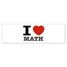 I heart Math Bumper Bumper Sticker