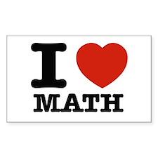 I heart Math Decal