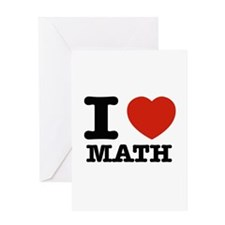 I heart Math Greeting Card