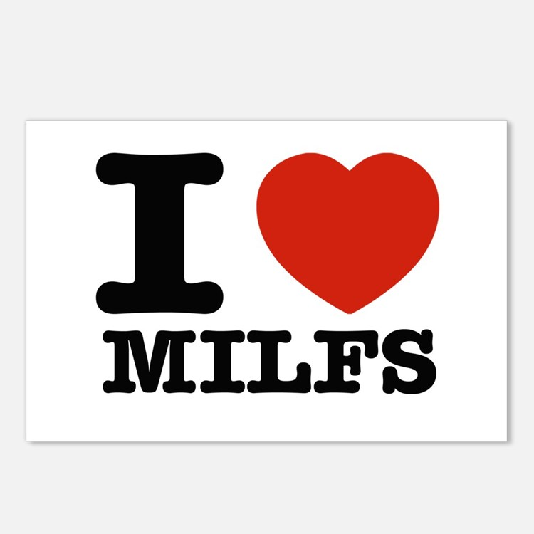 I heart Milfs Postcards (Package of 8)