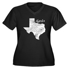 Marfa, Texas. Vintage Women's Plus Size V-Neck Dar