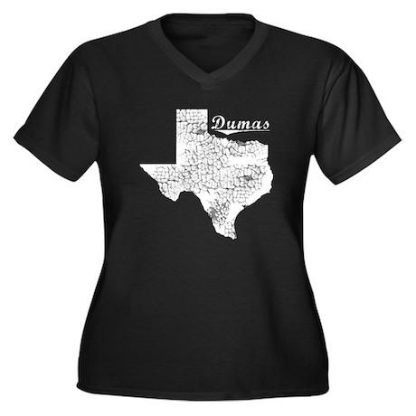 Dumas, Texas. Vintage Women's Plus Size V-Neck Dar