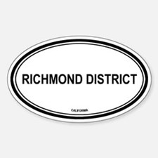 Richmond District oval Oval Decal