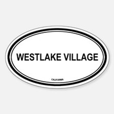 Westlake Village oval Oval Decal