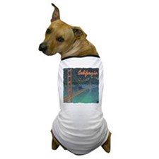 california golden gate pencil effect Dog T-Shirt