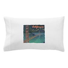 california golden gate pencil effect Pillow Case