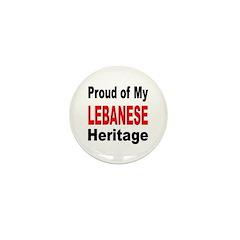 Proud Lebanese Heritage Mini Button