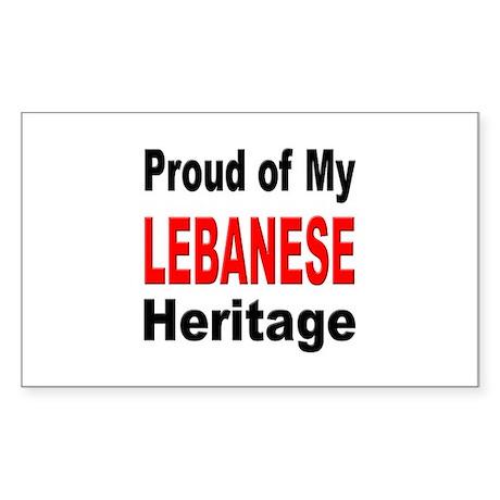 Proud Lebanese Heritage Rectangle Sticker