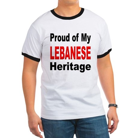 Proud Lebanese Heritage (Front) Ringer T