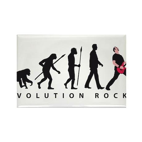 evolution e-guitar player Rectangle Magnet