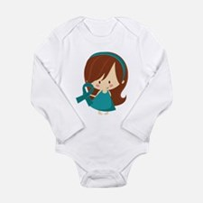 Teal Ribbon Girl Awareness Long Sleeve Infant Body