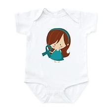 Teal Ribbon Girl Awareness Infant Bodysuit