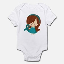 Teal Ribbon Girl Awareness Infant Bodysuit