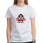 Red CheerLeader Penguin Women's T-Shirt