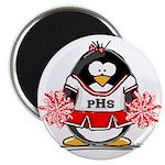 Red CheerLeader Penguin Magnet