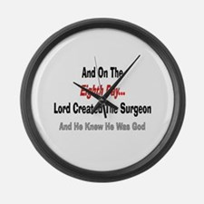 And on the eigth day SURGEON.PNG Large Wall Clock
