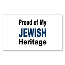 Proud Jewish Heritage Rectangle Decal