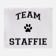 Team Staffie Throw Blanket