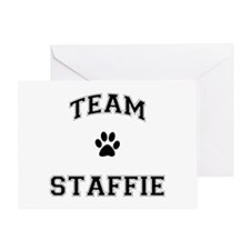 Team Staffie Greeting Card