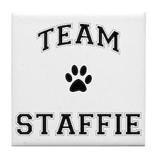 Team Staffie Tile Coaster