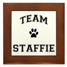 Team Staffie Framed Tile