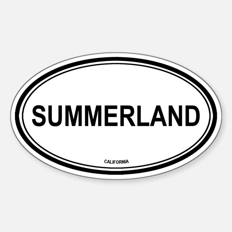 Summerland oval Oval Decal