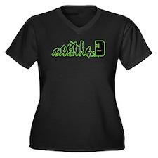 Exterminator Women's Plus Size V-Neck Dark T-Shirt