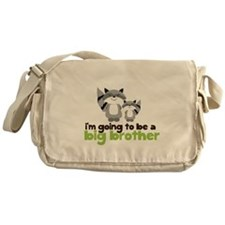 Big Brother Shirt Woodland Raccoons Messenger Bag