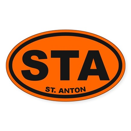 St. Anton Sticker (Oval)