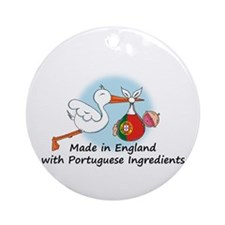 Stork Baby Portugal England Ornament (Round)