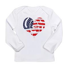I Hart USA Long Sleeve Infant T-Shirt