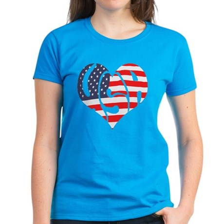 I Hart USA Women's Dark T-Shirt