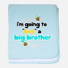 Bumble Bee a Big Brother baby blanket