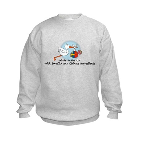 Stork Baby UK Sweden China Kids Sweatshirt