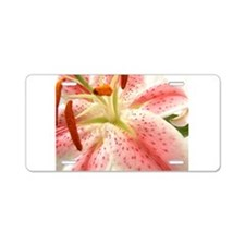 Funny Lily flower Aluminum License Plate