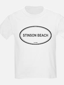 Stinson Beach oval Kids T-Shirt