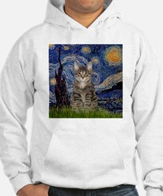 Starry Night & Tiger Cat Hoodie