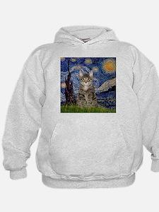 Starry Night & Tiger Cat Hoodie