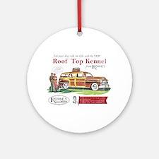 Vintage Romney Dog Ornament (Round)
